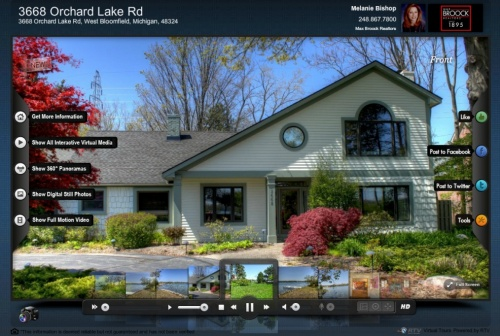 Social Media Enhanced Virtual Tour Window